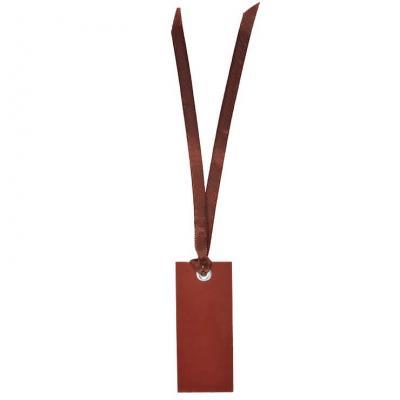 Étiquette rectangle chocolat avec ruban (x12) REF/3312