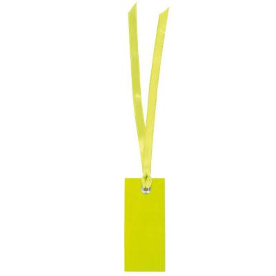 Étiquette rectangle verte avec ruban (x12) REF/3312