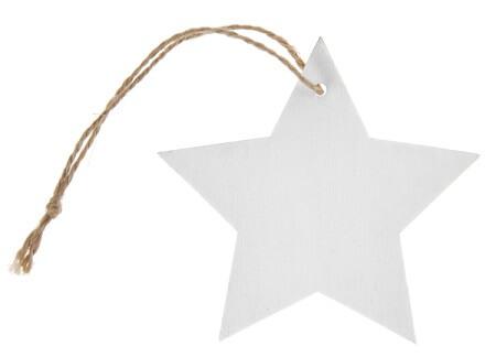 Marque place etoile avec cordon blanc