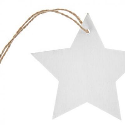 Marque-place étoile avec cordon: Blanc (x4) REF/4994