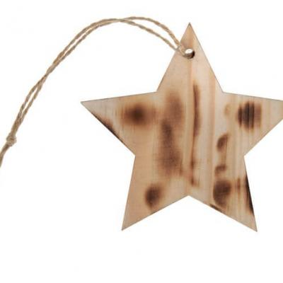 Marque-place étoile avec cordon: Brûlé (x4) REF/4994