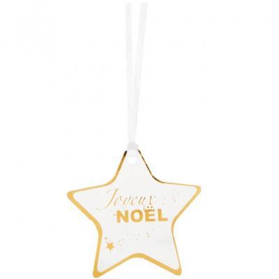 Marque-place étoile Joyeux Noël or (x12) REF/6143
