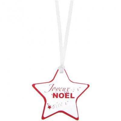 Marque-place étoile Joyeux Noël rouge (x12) REF/6143