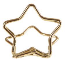 Marque-place étoile métallique or (x2) REF/4989