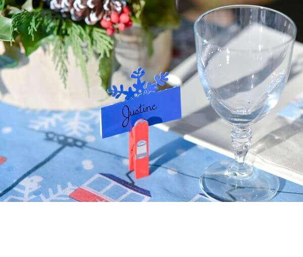 Marque place flocon bleu 1