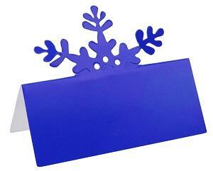 Marque-place flocon bleu (x10) REF/5020