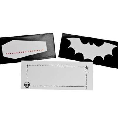 Marque-place Halloween: Gothique (x6) REF/CART1213