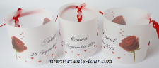 Marque-place photophore mariage: Passion (x3) REF/10162