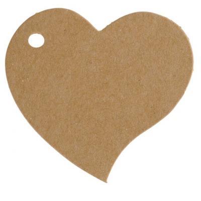 Étiquette mariage coeur kraft (x10) REF/4867