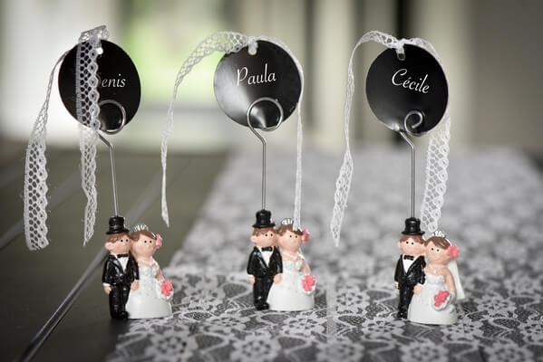 Marque place mariage noir