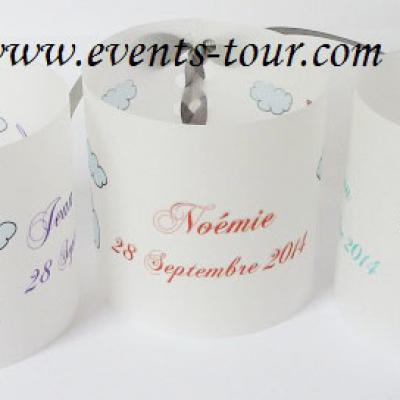 Marque-place photophore mariage: Love (x3) REF/10168