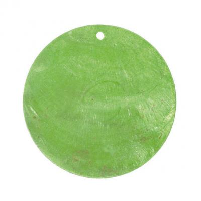 Marque-place rond nacré vert (x6) REF/3602