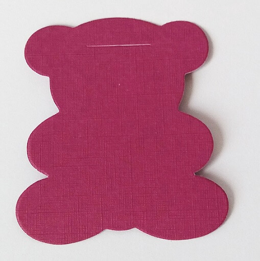 Marque place ours fuchsia