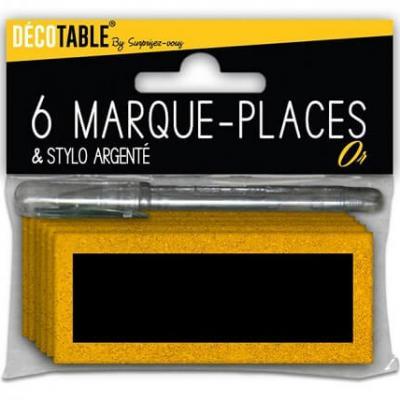Marque-place pailleté or (x6) REF/MPPS00OR