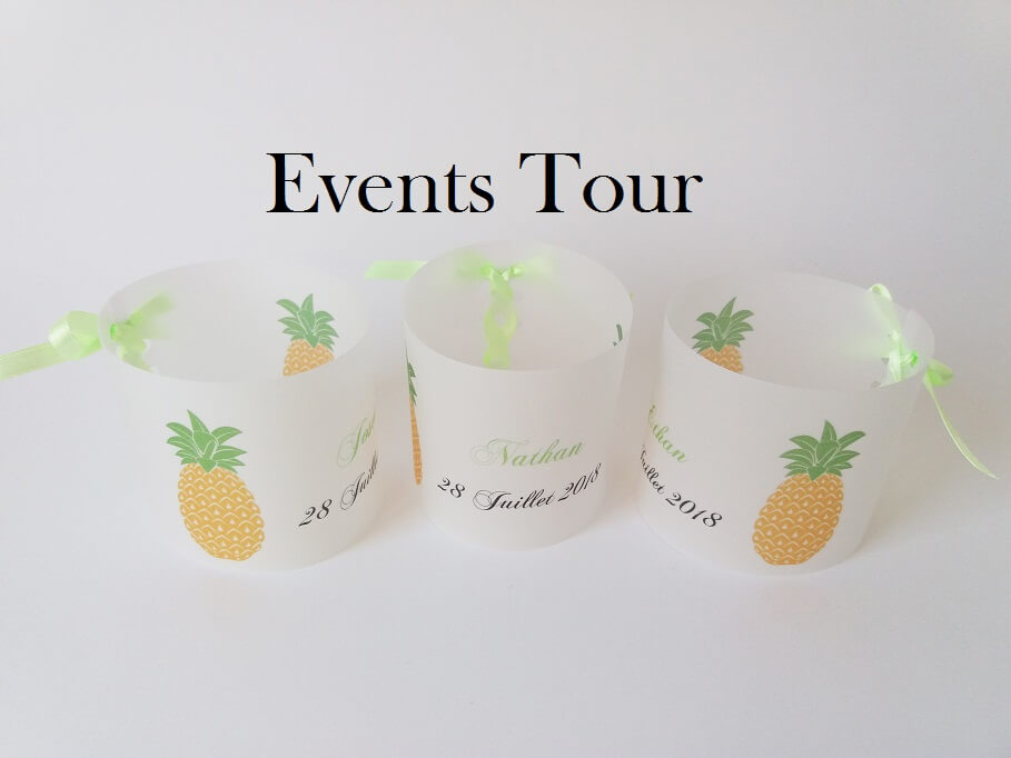 Marque place photophore gourmandise ananas