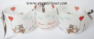 Marque-place photophore mariage: Forever (x3) REF/10159
