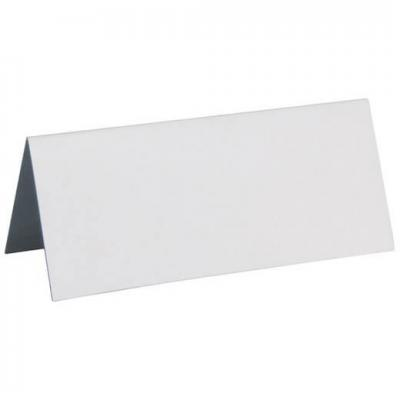 Marque-place rectangle blanc (x10) REF/3013