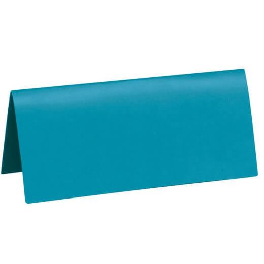 Marque place rectangle chevalet bleu turquoise