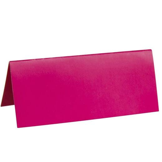 Marque place rectangle chevalet fuschia