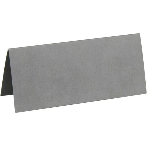 Marque place rectangle chevalet gris
