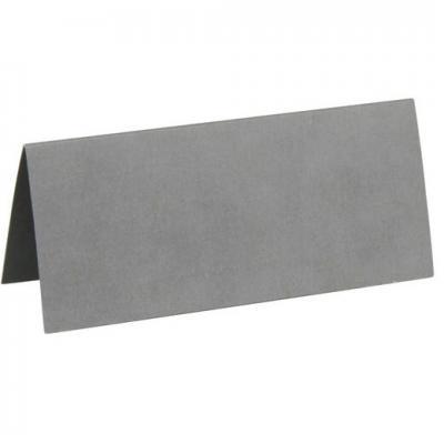 Marque-place rectangle gris (x10) REF/3013