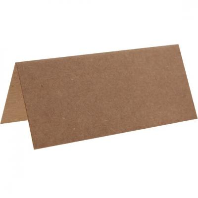 Marque-place rectangle kraft (x10) REF/3013