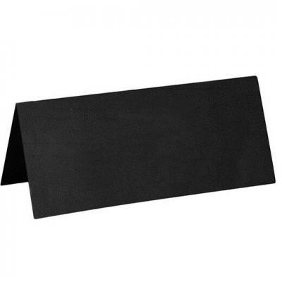 Marque-place rectangle noir (x10) REF/3013