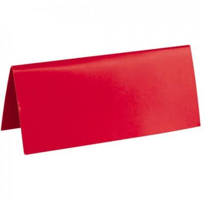 Marque-place rectangle rouge (x10) REF/3013