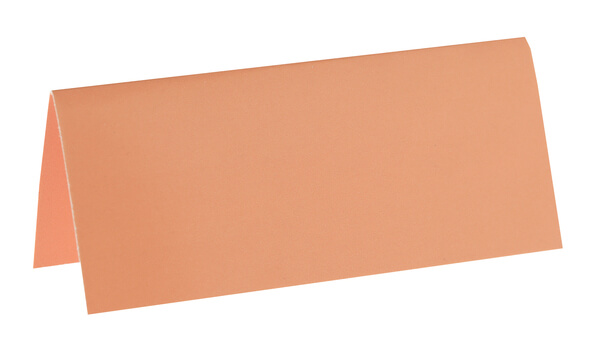 Marque place rectangle corail