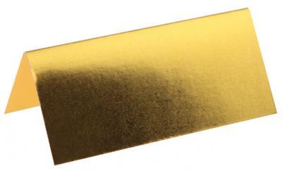 Marque-place rectangle métallisé or (x10) REF/4028