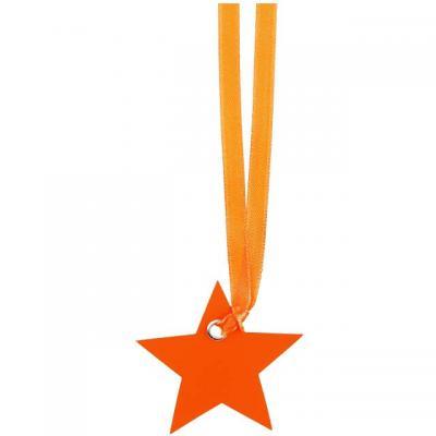 Marque-place ruban étoile orange (x12) REF/4529