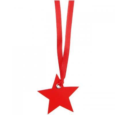 Marque-place ruban étoile rouge (x12) REF/4529