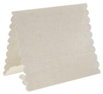 Marque place tissu ivoire