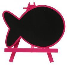Marque-table ardoise poisson fuchsia (x1) REF/4970