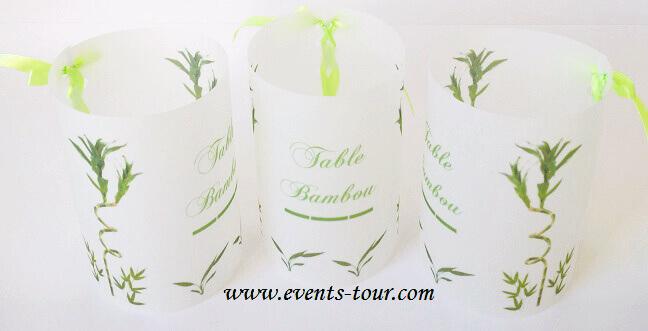Marque table bambou