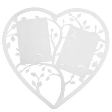 Marque-table coeur blanc (x1) REF/4581