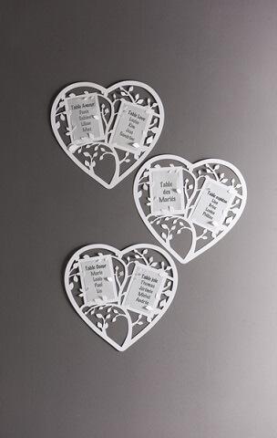 Marque table coeur 2