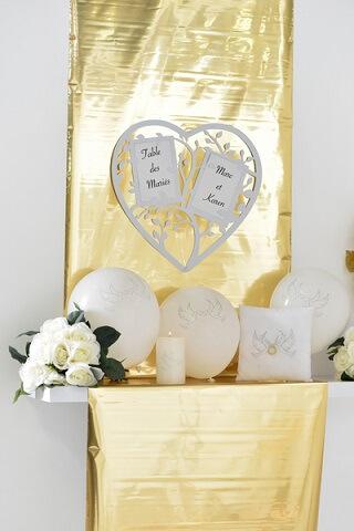 Marque table coeur 3