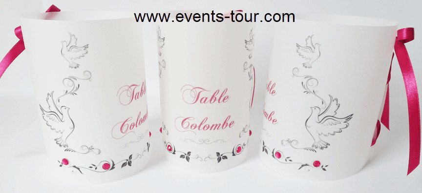 Marque table colombe
