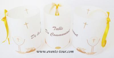 Marque-table photophore: Communion (x2) REF/10243
