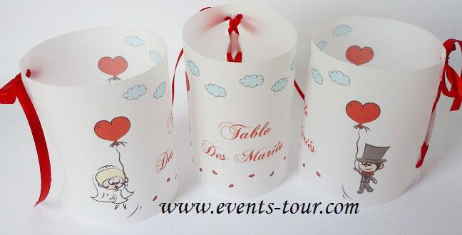 Marque table mariage 1