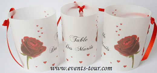 Marque table mariage 5