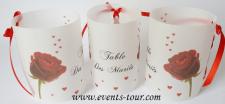 Marque-table photophore mariage: Passion (x2) REF/10237
