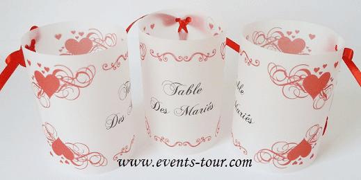 Marque table mariage 6