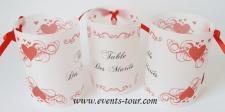 Marque-table photophore mariage: Coeur (x2) REF/10239