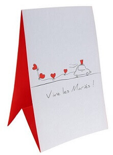 Marque table mariage vive les maries