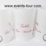 Marque-table photophore: Musical party (x2) REF/10258