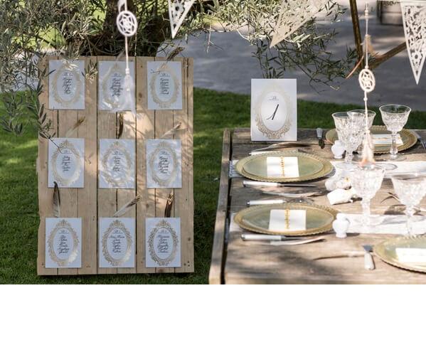 Marque table or versailles