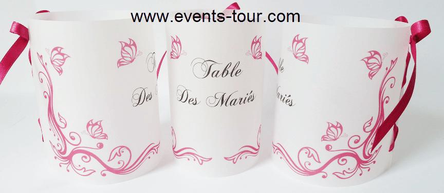 Marque table papillon 6