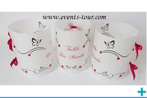 Marque table photophore calque personnalisable papillon